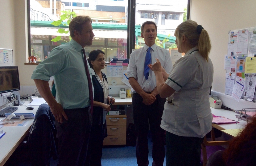 MF and Jeremy Hunt at YDH