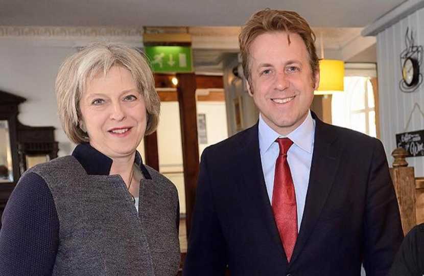 Marcus Fysh and Theresa May