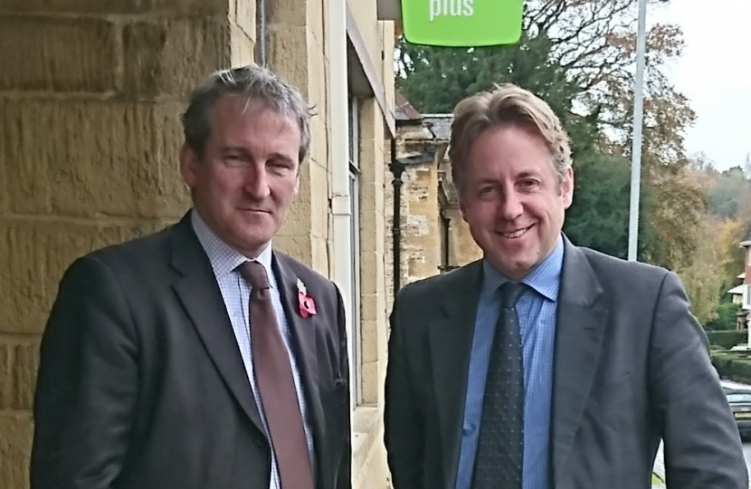 Marcus Fysh with Minister for Employment Damian Hinds