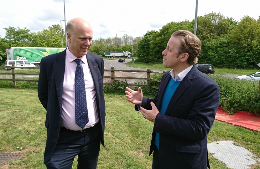 Marcus Fysh MP with Transport Secretary Chris Grayling MP