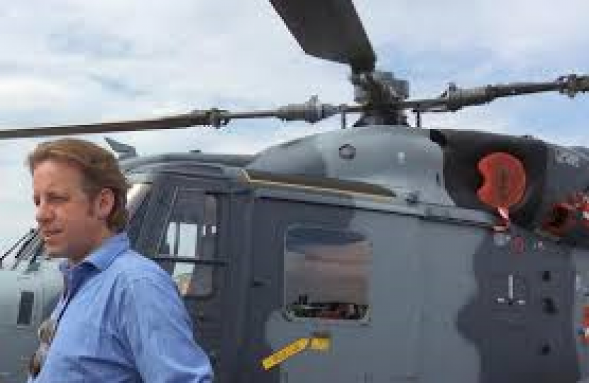 Marcus with a Leonardo Helicopter