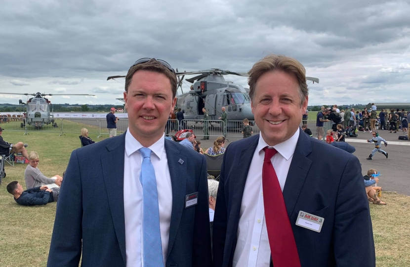Marcus with Robert Courts MP