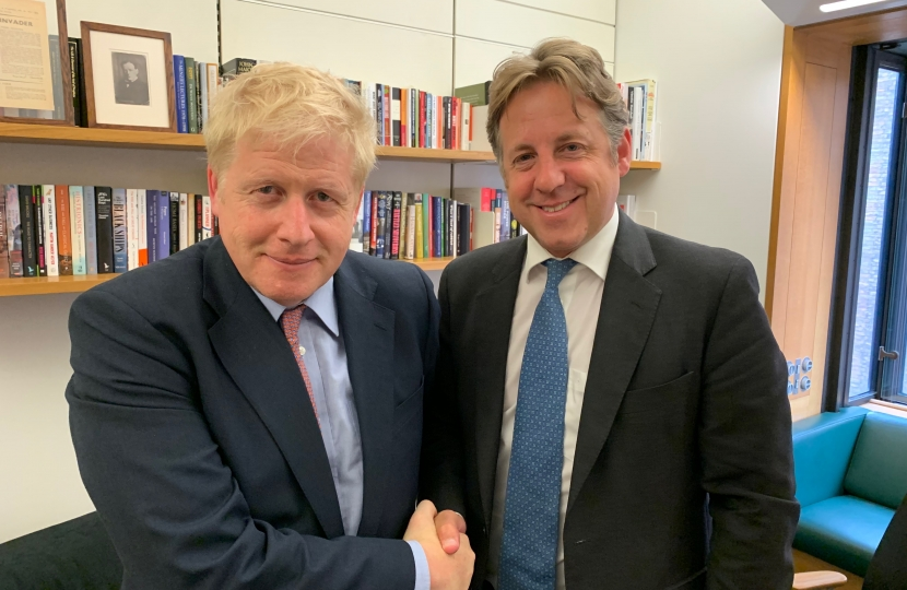 Marcus Fysh with Boris Johnson